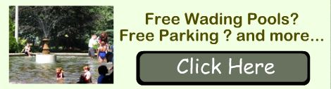 click for free parking, swimming