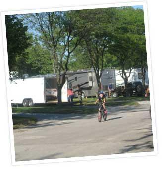 biking around campground