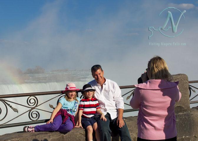 Family treasure with Falls as backdrop